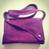 Cut little bag made out of some left over fabric