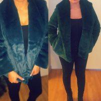Custom made faux fur coat